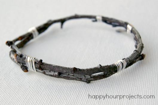 Twig Bangle Bracelet